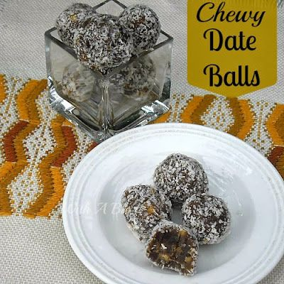 Chewy Date Balls ~ gooey AND crispy center !  #DateBalls #Cookies #SweetTreats