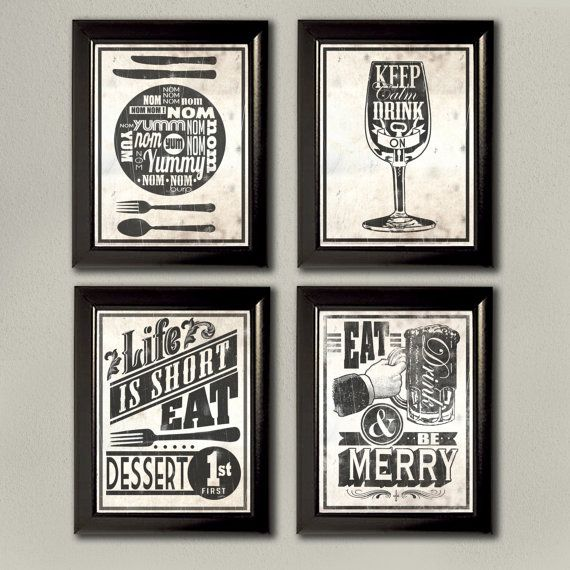 Kitcken artwork that is shabby chic! Love typography right now! Kitchen  Typography Wall Art