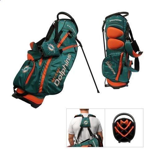 Golf Bags - Miami Dolphins Standup Golf Bag - Golf Stand Bag