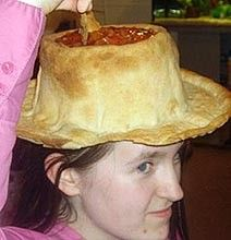Behold: the salsa and/or guacamole chip hat