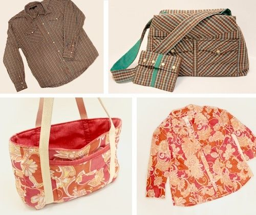 Make a tote from that old skort - a great idea since I love the fabric, but the skort makes me look like a bell.