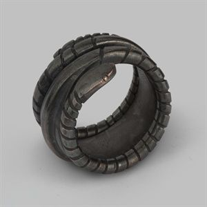 Bespoke Viking Snake Ring Made For Angelina Jolie's Maleficent Film Character. Click for bigger picture.