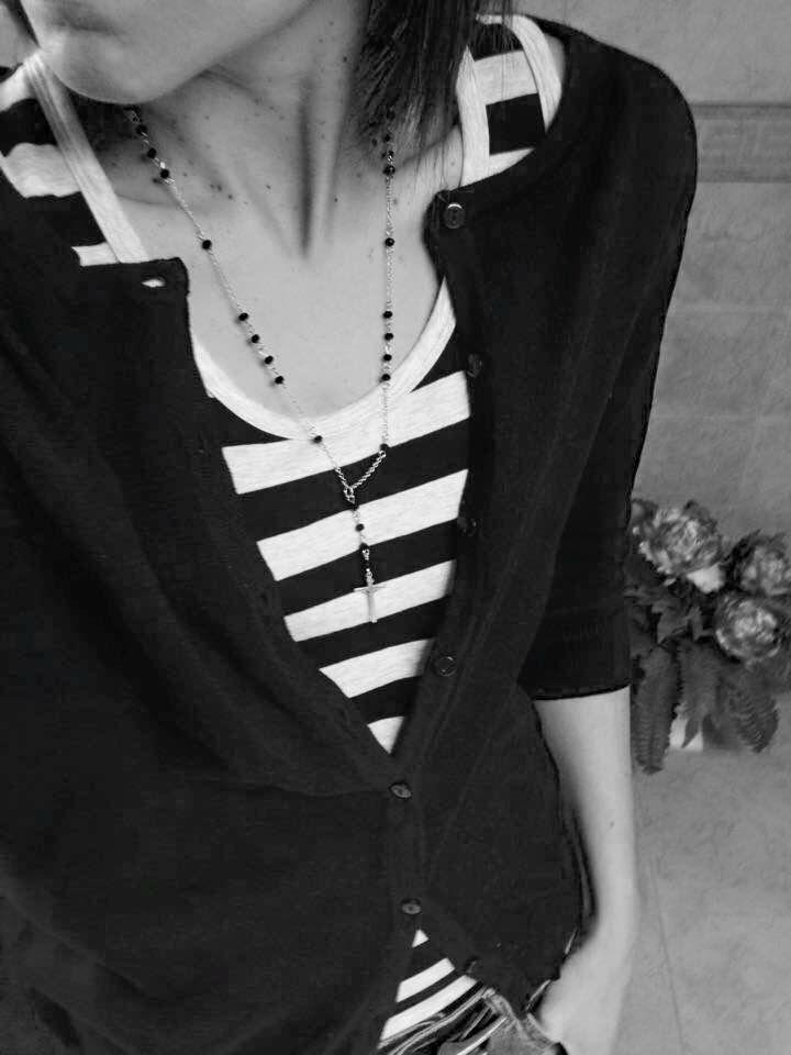 Collana modello Rosario Onice nero