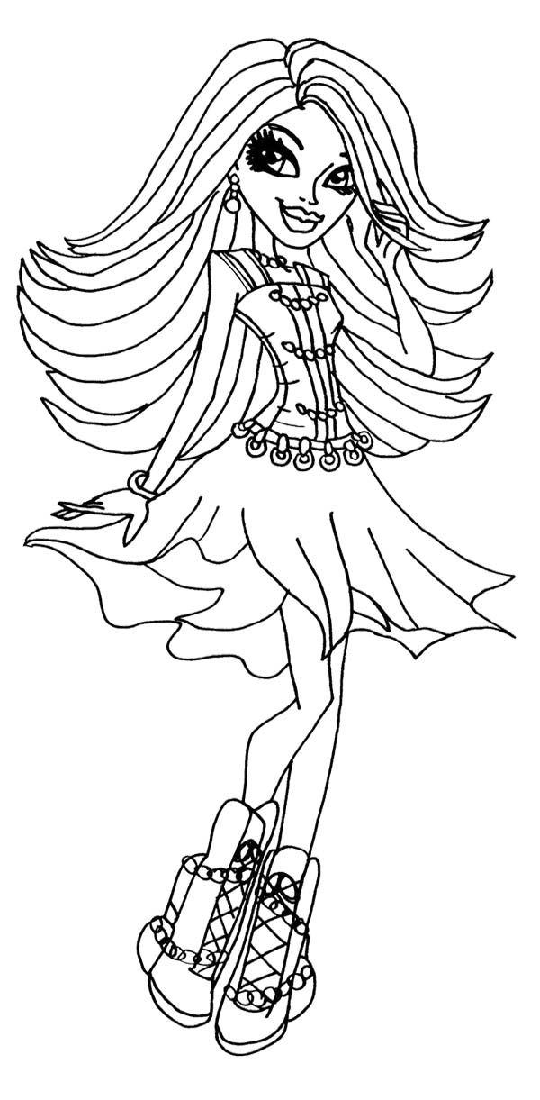 Popular Monster High Coloring Pages Pdf 63 Spectra Vondergeist Monster High