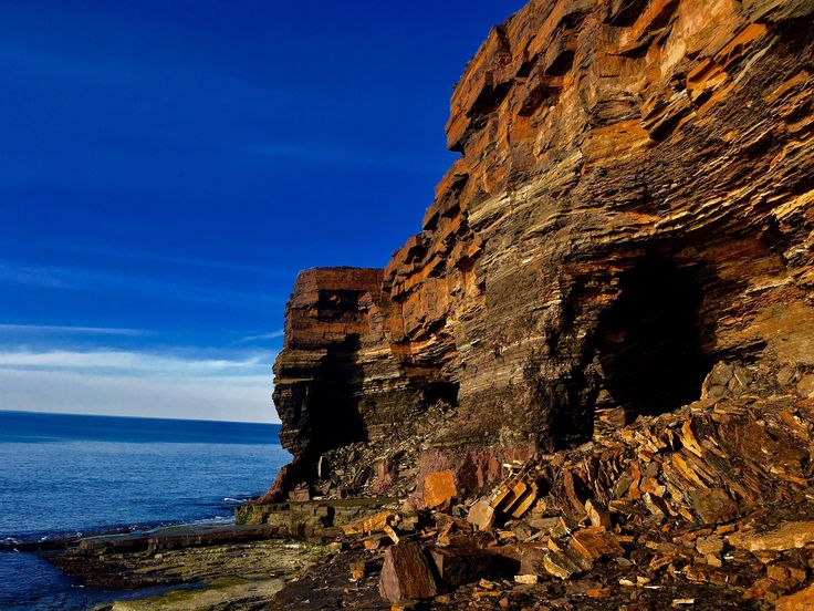 Hiking next to the ocean on Bell Island Newfoundland