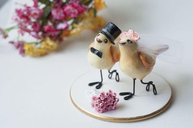 Topo de bolo para casamento - No país da Alice
