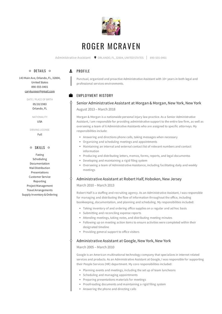 Administrative Assistant Resume Sample Beauteous 10 Best Administrative Assistant Resume Samples Images On Pinterest