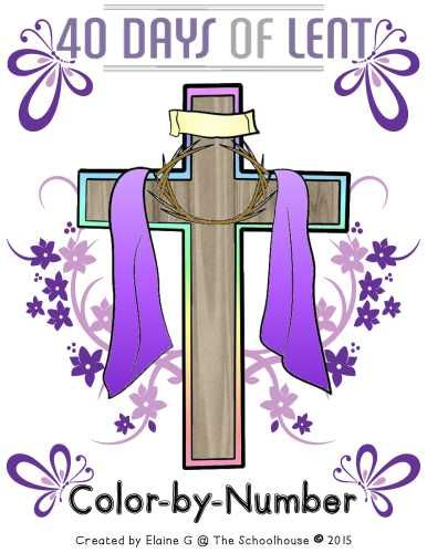 40 Days of Lent Color by Number- Once space is colored in for each day of Lent. Certain spaces are specific colors. When completed at the end of Lent, it'll be a picture that represents Lent/Easter.