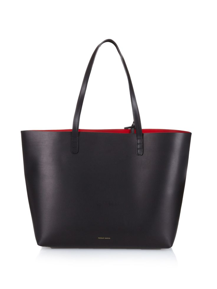 Large Red Lined Leather Tote Mansur Gavriel