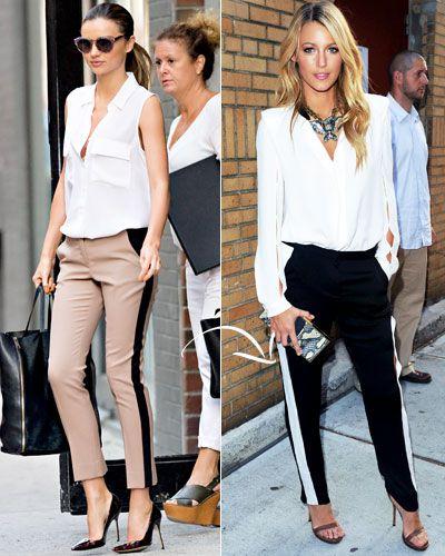 Kerr - Tuxedo-Stripe Pants - A.L.C. and shirt - Equipment, Blake - Lanvin pants
