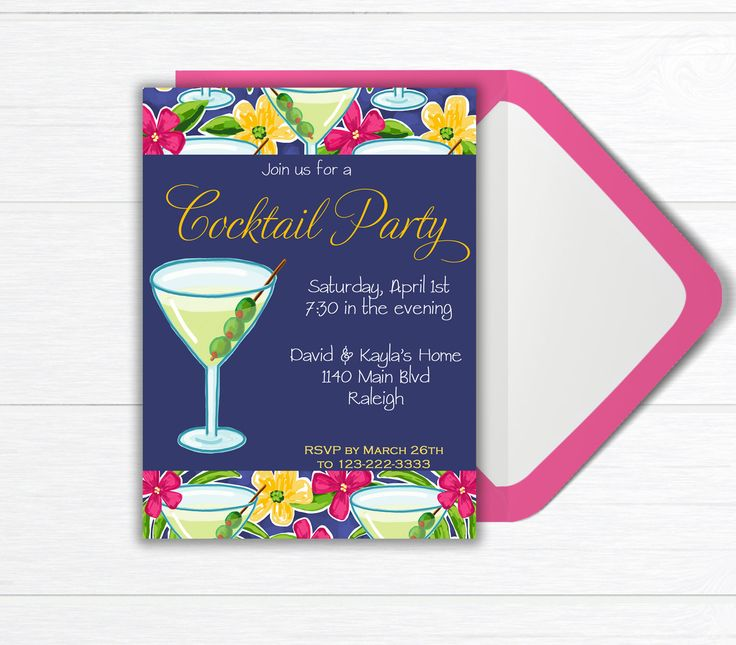 17 beste idee n over Cocktail Party Invitation op Pinterest – Coctail Party Invitation