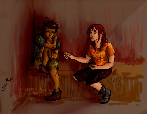 """""""You're an illusion, Mary!"""" Chris backed farther into the corner. """"G-get away!""""""""My name's not Mary."""" Clarisse's voice was gentle but really sad. I never knew Clarisse could sound that way. """"My name is Clarisse. Remember. Please."""" The Battle of the Labyrinth, page 72"""