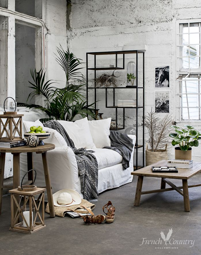 Relax in modern Nordic living summer style with rustic wood surfaces and salt washed tones teamed with graphic black and white accents with an essence of tribal mystique and wanderlust.