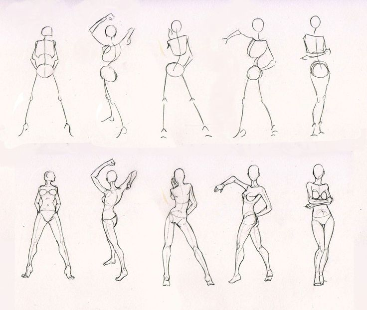 Sketches 28 - Woman standing practice by Azizla on deviantART