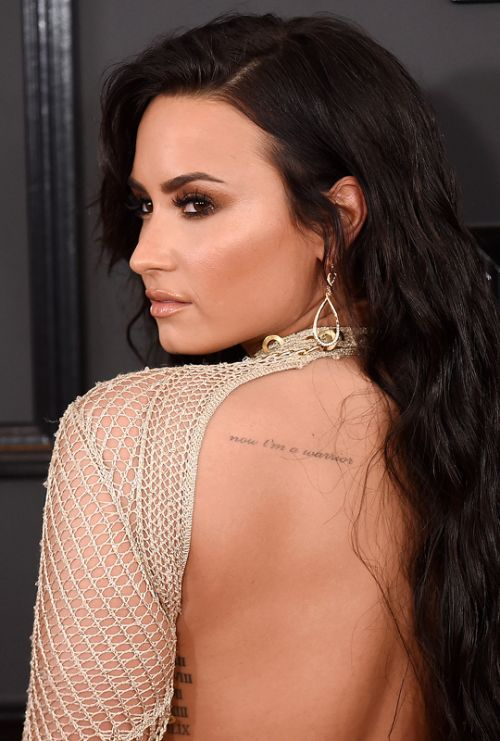 Demi Lovato attends The 59th GRAMMY Awards on February 12, 2017 in Los Angeles, California.