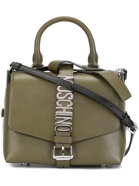 MOSCHINO  logo plaque shoulder bag  $1,055.60