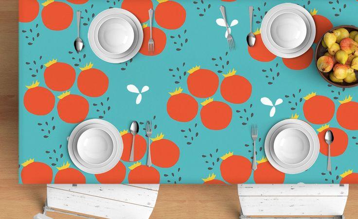 Tomatoes Tablecloth - Scandinavian tablecloth