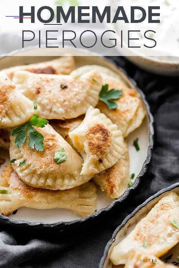 Homemade Pierogies With Sour Cream Salt Baker Pierogirecipe I 2020