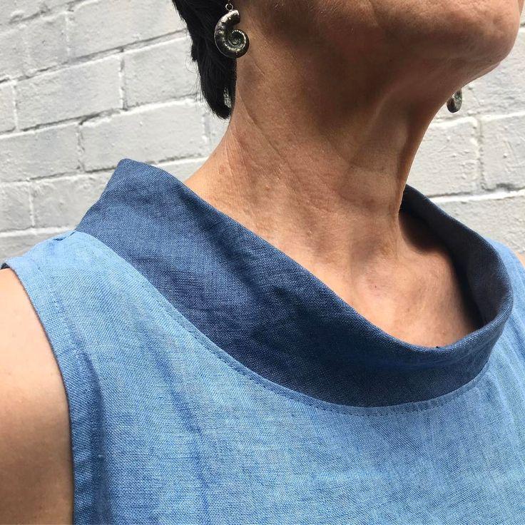 Iris Dress - Tessuti Fabrics bias neck modification