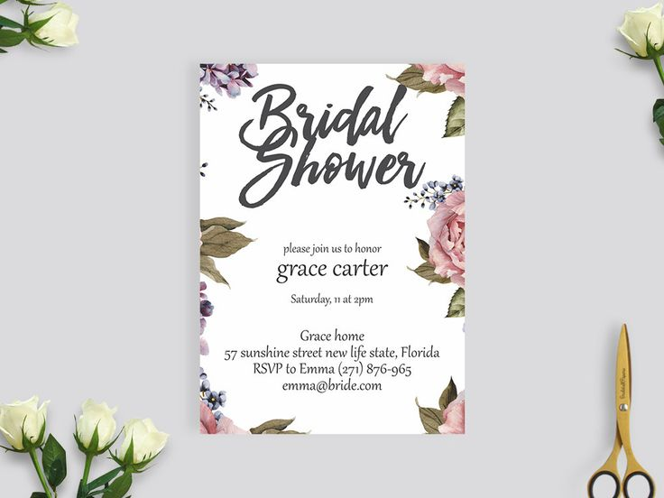 rustic bridal shower invitation, wedding invite, rustic flower bridal shower #BS202 by BRIDETALKpaperie on Etsy