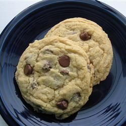 Ultimate High Altitude Chocolate Chip Cookies Recipe. * Really the best one I've found so far. Add two teaspoons of cornstarch to this recipe and they become super soft and chewy and stay that way for a few days. Store in plastic bag.