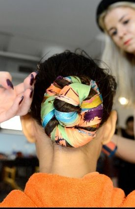 The scarf bun: Hair Bands, Pretty Scarfs, Hair Crazy, Fashion Week, Lovely Hairstyles, Nytimes Com, Hermes Scarf