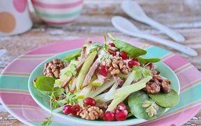 Легкий салат с языком и овощами – рецепт с фото