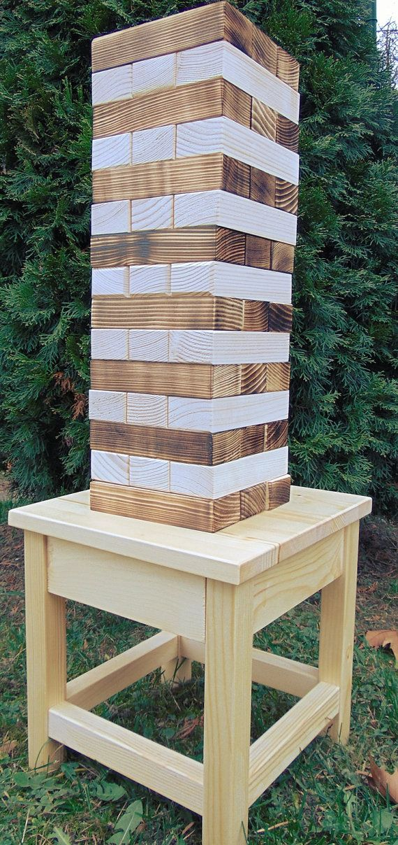 Wood Table for Your Custom Jenga Game, Alternative Wedding Guestbook, Wedding Accessories, Jenga Holder, Outdoor Jenga, Wedding Game
