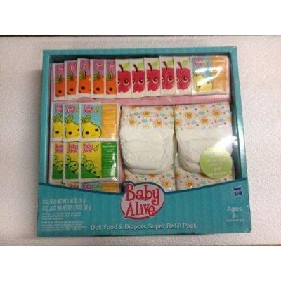 Baby Alive Doll Food and Diapers Super Refill Pack