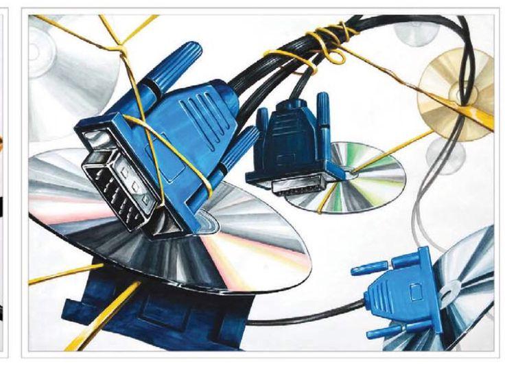공간감 씨디의 형태, 커넥터의 크기 변화, 고무줄의 두께 변화