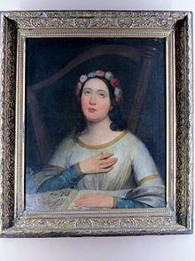 Raymond Auguste Monvoisin  (1794-1870), Santa Cecilia
