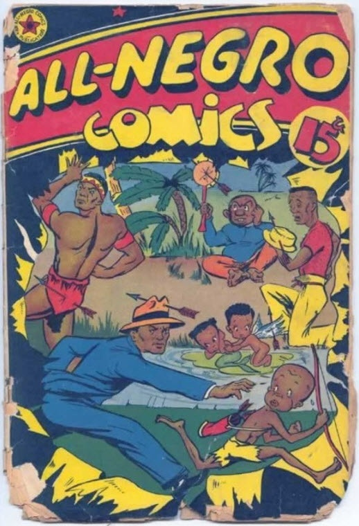 'All Negro Comics' created by Orrin C Evans    1902 - 1971    Orrin C Evans, first job was on the Sportsman's Magazine at age 17, and his first real newspaper experience was with the Philadelphia Tribune, the oldest black paper in the country. From there, in the early 1930s, he decided to break the color barrier and landed a writing position on the Philadelphia Record, becoming the first black writer to cover general assignments for a mainstream white newspaper in the United States.