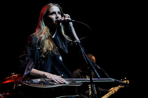 Musician/vocalist Emily Robison of Court Yard Hounds performs in concert at ACL Live on March 31 2011 in Austin Texas