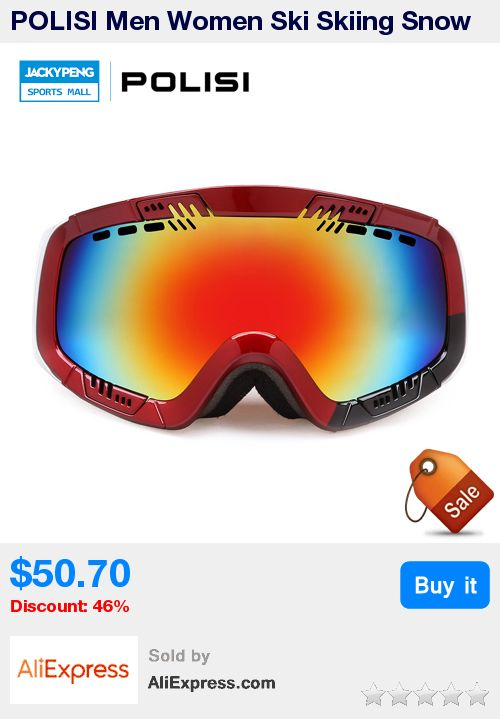 POLISI Men Women Ski Skiing Snow Goggles UV Protection Snowboard Eyewear Outdoor Snowmobile Glasses Moto Motocross Goggles * Pub Date: 18:09 Jun 21 2017