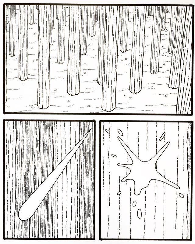 #comic #art #pen #technique #sadness #blackandwhite #splash #forest #draw #drawing #instadraw #nothing #human #sketch #wood