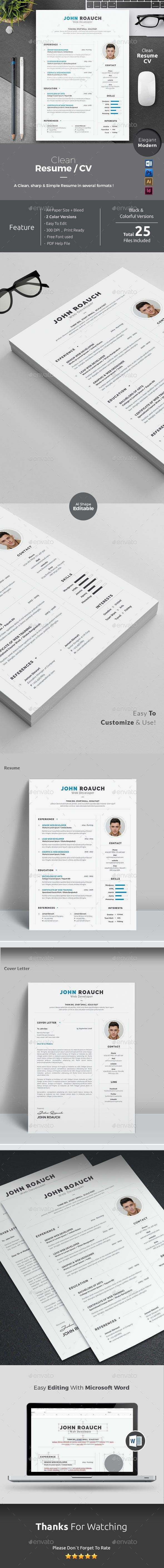 496 Best Resumes Images On Pinterest