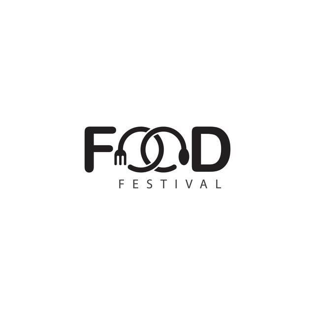 Food Festival Logo Vector Template Design Illustration Restaurant Logo Design Text Logo Design Typographic Logo Design