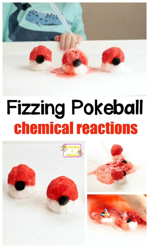 Kids love Pokemon? They will love this Pokemon activity making a DIY real pokeball combined with science for kids and chemical reactions!