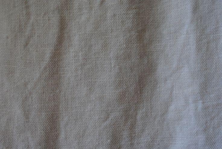 Stoned Linen White 100% linen - 125cm