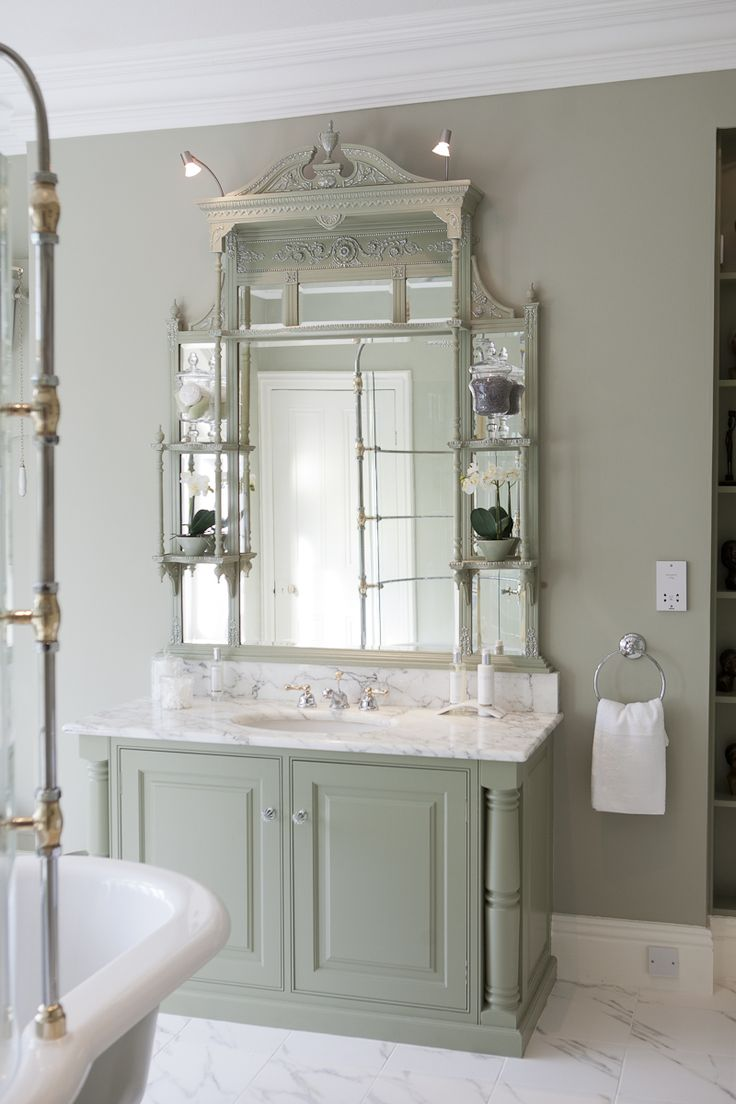 Modern country bathroom ideas - Modern Country Style Colour Study Farrow And Ball French Gray Click Through For