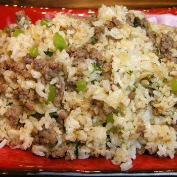 dirty rice. I love this blog. Mmm mmmm