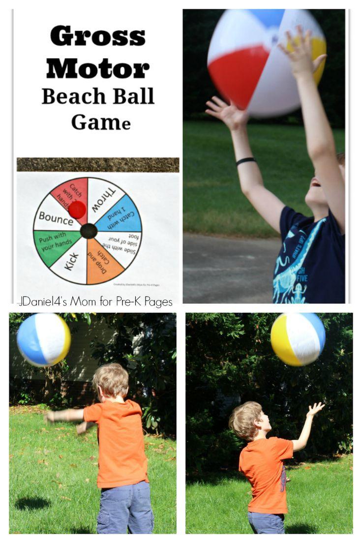 gross motor beach ball game