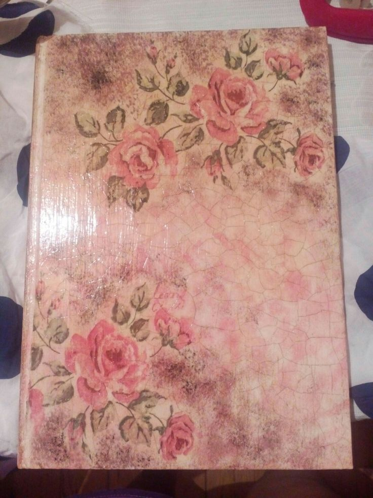 Craft booklet decoupage