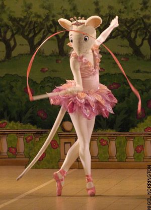 Angelina Ballerina costume, I have no idea how they dance in these costumes but so cute!