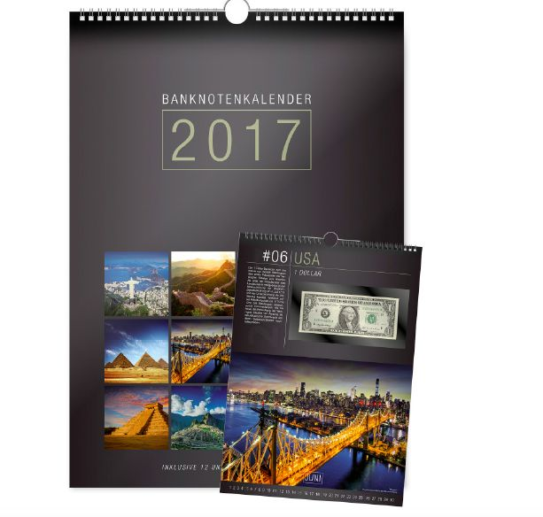 Ημερολόγιο 2017 με 12 Αυθεντικά Χαρτονομίσματα απο 12 Χώρες,   Κάθε ημερολογιακός μήνας διαθέτει ένα ΑΥΘΕΝΤΙΚΟ ΑΚΥΚΛΟΦΟΡΗΤΟ ΧΑΡΤΟΝΟΜΙΣΜΑ καλά προστατευμένο σε ειδική θήκη coinsclub.gr
