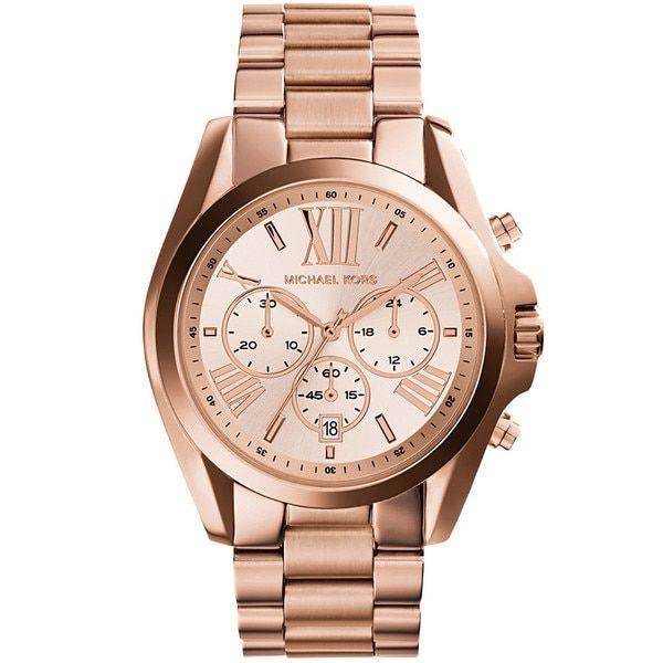 Michael Kors Women's 'Bradshaw' Rose-tone Chronograph MK5503 Watch
