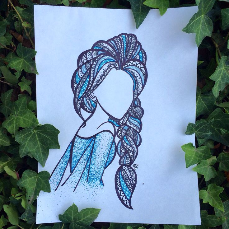 Elsa zentangle