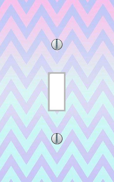 Light Switch Plate pastel colored chevron bedroom nursery wall art home decor…
