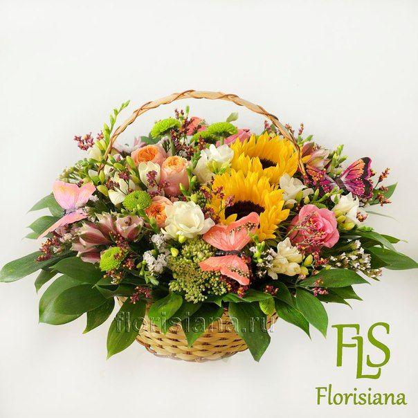 Корзины с цветами – 40 товаров