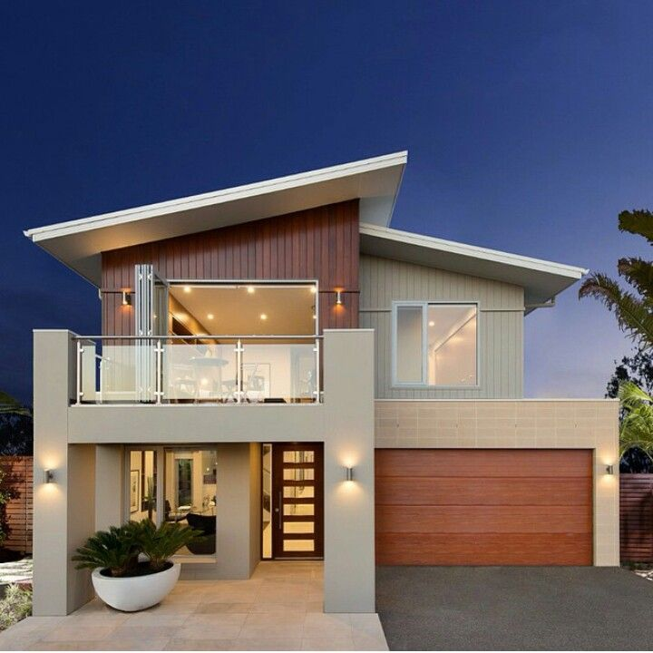 30 Contemporary Home Exterior Design Ideas: 3. Mono Pitched Roof...on A Contemporary House. This Roof